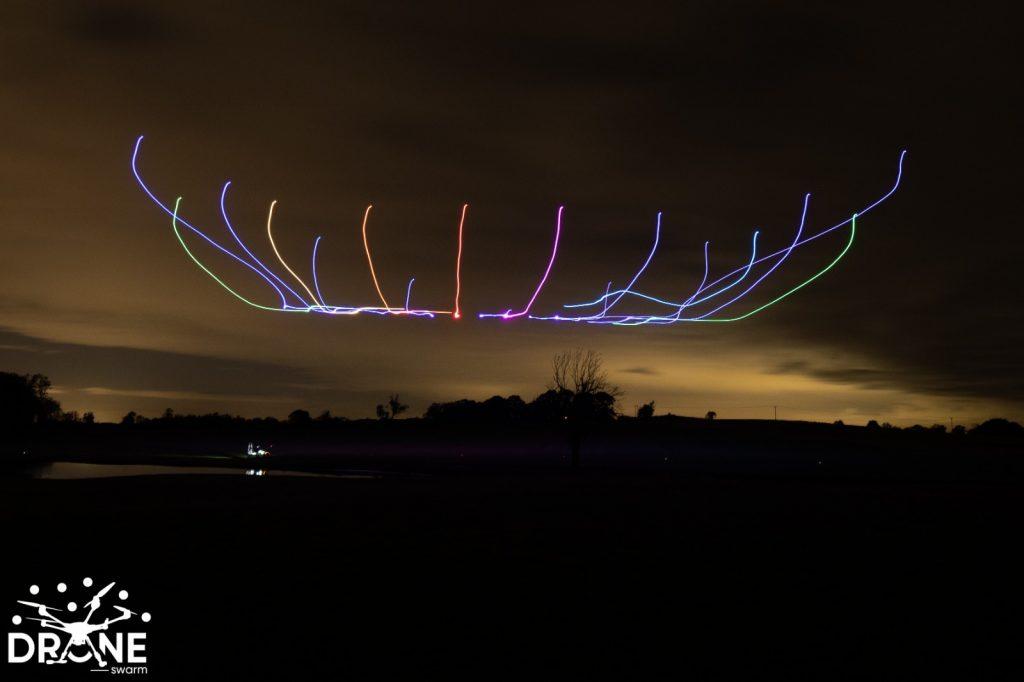 full colour led rainbow drone show