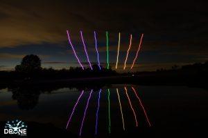 rainbow drone show