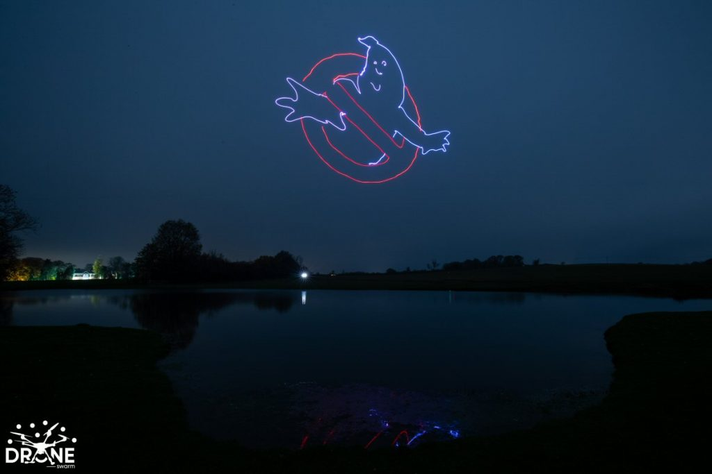 Ghostbusters Drone Light Show UK Drones