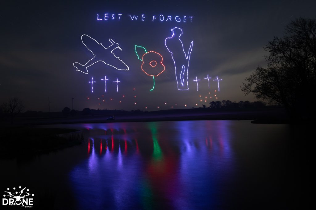 Lest We Forget Drone Light Show