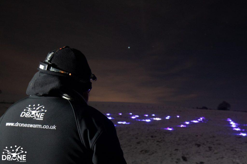 Drone Swarm Light LED Displays UK DroneSwarm